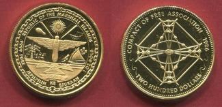 Marshall Inseln Islands 200 Dollars 1986 pp- Stick