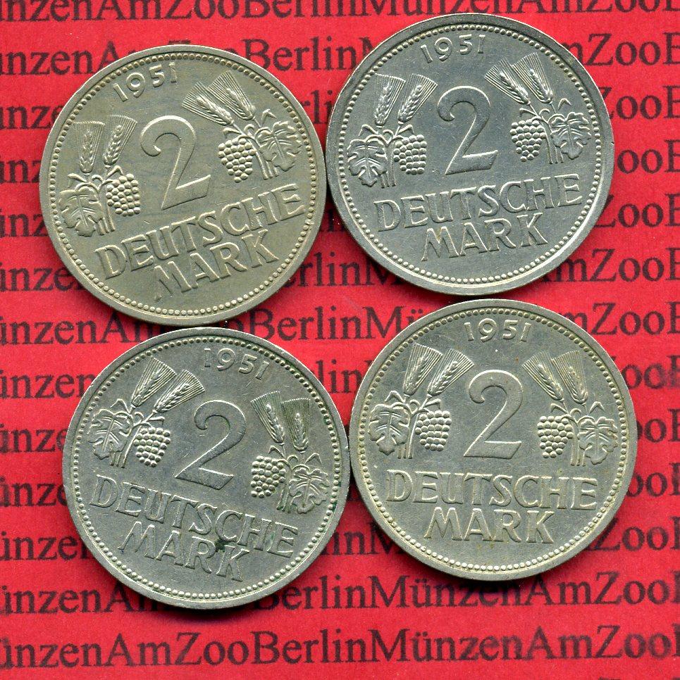 2 Dm Satz Weintrauben D F G J 1951 D F Gj Bundesrepublik Deutschland