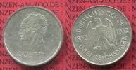 Weimarer Republik Deutsches Reich 3 Mark 100. Todestag von Goethe