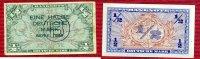 Bundesrepublik Deutschland 1/2 DM  Deutsche Mark Kopfgeld Bundesrepublik Deutschland, 1/2 DM  Deutsche Mark 1948 Kopfgeld mit B Stempel