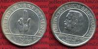 Weimarer Republik Deutsches Reich 5 Mark Silbermünze Weimarer Republik 5 Mark Verfassung Schwurhand 1929 D  Silber