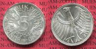 Bundesrepublik Deutschland 5 DM Silberadler Bundesrepublik Deutschland 5 DM Silberadler, Kursmünze 1964 G