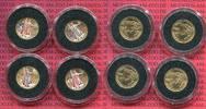 4 x 5 Dollars Golden Eagle 1/10 Unze 2003 USA USA 4 x 5 Dollars Gold Ea... 688.75 £799,00 EUR628.41 £ 729,00 EUR  +  7.33 £ shipping