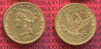 10 Dollars Liberty Frauenkopf Eagle 1880 USA USA 10 Dollars Liberty, Fr... 518.82 £ 617,00 EUR  +  7.15 £ shipping