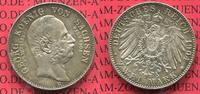 2 Mark Silber Gedenkmünze 1904 Sachsen, Saxony German Empire Sachsen 2 ... 75.68 £ 90,00 EUR  +  7.15 £ shipping