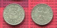 3 Mark Kursmünze Silber 1931 F Weimarer Republik Deutsches Reich Weimar... 281.70 £ 335,00 EUR  +  7.15 £ shipping