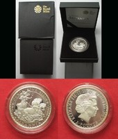 2009 England 1 oz Silber BRITANNIA 2 Pounds 2009 ELIZABETH II. Proof in Box SELTEN # 94960 PP