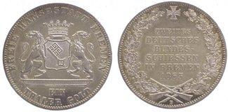 Taler 1865  B Bremen, Stadt  Vorzüglich - Stempelglanz