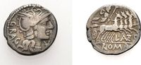 Denar 136 v. Chr. ROM, KAISERZEIT L. ANTESTIUS GRAGULUS Sehr schön  51.97 £ 60,00 EUR  +  6.93 £ shipping