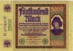 Reichsbanknote 1922 DEUTSCHLAND. 5000 Mark. II  81.89 £ 95,00 EUR  +  6.90 £ shipping