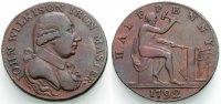 Halfpenny-Token 1792 ENGLAND Wilkison Sehr schön  25.86 £ 30,00 EUR  +  6.90 £ shipping