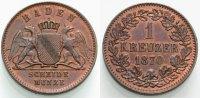 Kreuzer 1870 BADEN  Vorzüglich  12.93 £ 15,00 EUR  +  6.90 £ shipping