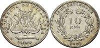 10 Centavos 1880 NICARAGUA  Sehr schön  17.24 £ 20,00 EUR  +  6.90 £ shipping
