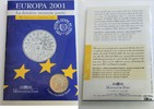 Frankreich 6,55957 Francs (= 1 Euro) Europa 2001 im Blister, ungeöffnet - The last euro conversion coin Europa 2001