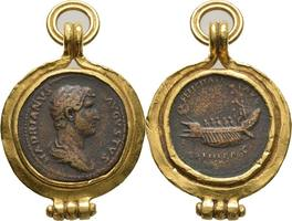 Italien Sesterz 132-134 n.Chr. extrem selten / Uni