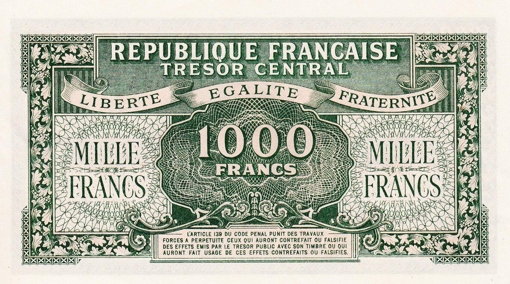 Французский франк фото купюр