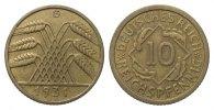 10 Pfennig 1931 G Weimarer Republik  sehr schön / vorzüglich  298.66 £ 345,00 EUR free shipping