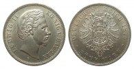 5 Mark Bayern 1875 D Kaiserreich  wz. Rf., Bildseite vz, Adlerseite vz+  428.51 £ 495,00 EUR free shipping