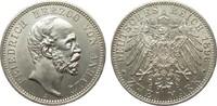 2 Mark Anhalt 1896 A Kaiserreich  Bildseite vz/St, Adlerseite f.St  688.21 £ 795,00 EUR free shipping