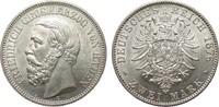 2 Mark Baden 1876 G Kaiserreich  vorzüglich / Stempelglanz  1891.98 £ 2250,00 EUR free shipping