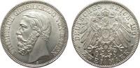 2 Mark Baden 1901 G Kaiserreich  Bildseite vz/St, Adlerseite f.St  752.59 £ 895,00 EUR free shipping