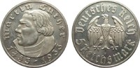 5 Mark Luther 1933 F Drittes Reich  min. berieben, polierte Platte  416.24 £ 495,00 EUR free shipping