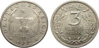 3 Mark Kursmünze 1932 J Weimarer Republik  vorzüglich / Stempelglanz  515.07 £ 595,00 EUR free shipping