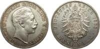 5 Mark Preussen Wilhelm II 1888 A Kaiserreich  min. Rf., vorzüglich / S... 1004.85 £ 1195,00 EUR free shipping