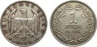 1 Mark 1927 A Weimarer Republik  vorzüglich  541.04 £ 625,00 EUR free shipping