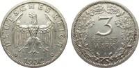3 Mark Kursmünze 1932 A Weimarer Republik  sehr schön / vorzüglich  281.34 £ 325,00 EUR free shipping