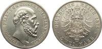 2 Mark Mecklenburg-Schwerin 1876 A Kaiserreich  vz - vz/St  1255.22 £ 1450,00 EUR free shipping