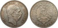 2 Mark Sachsen 1888 E Kaiserreich  Bildseite vz+, Adlerseite vz/St  1640.45 £ 1895,00 EUR free shipping