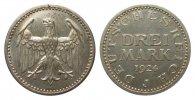 3 Mark Kursmünze 1924 J Weimarer Republik  wz. Kratzer, polierte Platte  341.94 £ 395,00 EUR free shipping