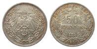 50 Pfennig 1898 A Kaiserreich  vorzüglich  273.29 £ 325,00 EUR free shipping