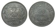50 Pfennig 1896 A Kaiserreich  Patina, fast Stempelglanz / Stempelglanz  411.19 £ 475,00 EUR free shipping