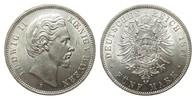 5 Mark Bayern 1876 D Kaiserreich  wz. Rf., Bildseite vz/St, Adlerseite ... 515.07 £ 595,00 EUR free shipping