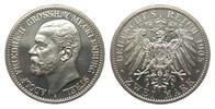 2 Mark Mecklenburg-Strelitz 1905 A Kaiserreich  wz. Kratzer, polierte P... 1207.61 £ 1395,00 EUR free shipping