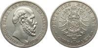 2 Mark Mecklenburg-Schwerin 1876 A Kaiserreich  vorzüglich  861.34 £ 995,00 EUR free shipping