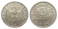 3 Mark Kursmünze 1931 E Weimarer Republik  kl. Randfehler, vorzüglich  323.74 £ 385,00 EUR free shipping