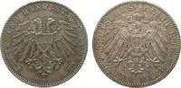 2 Mark Lübeck 1901 A Kaiserreich  fast vorzüglich  273.29 £ 325,00 EUR free shipping