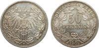 50 Pfennig 1902 F Kaiserreich  fast Stempelglanz  542.37 £ 645,00 EUR free shipping