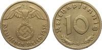10 Pfennig 1936 G Drittes Reich  Wertseite Kratzer, sonst ss+  246.72 £ 285,00 EUR free shipping
