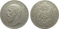 5 Mark Baden ohne Querstrich im A 1891 G Kaiserreich  knapp sehr schön  319.54 £ 380,00 EUR free shipping