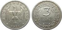 3 Mark Kursmünze 1931 A Weimarer Republik  fast vorzüglich  238.06 £ 275,00 EUR free shipping